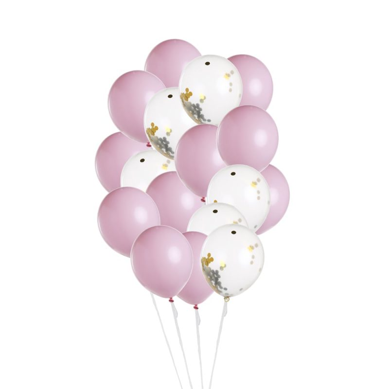 Ballons-anniversaire-Rose-Blanc-Or
