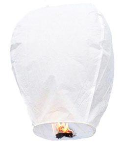 Lanterne-Volante-Blanc-Biodégradable-sans métal-