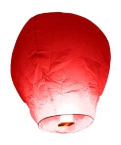 lanterne-volante-chinoise-thailandaise-rouge-Biodégradable