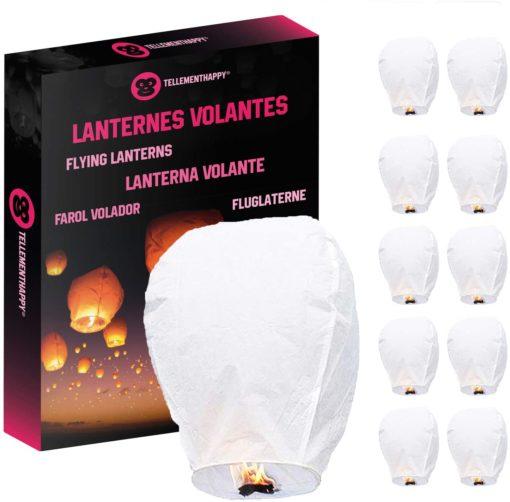 Lanterne Volante Blanche Biodégradable TellementHappy
