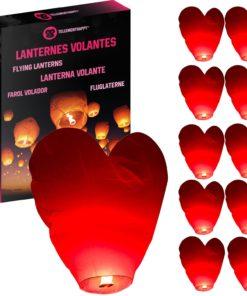Lanterne Volante Coeur Rouge Biodégradable TellementHappy