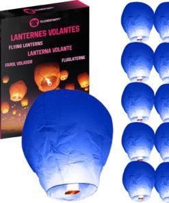Lanterne Volante Bleu Biodégradable TellementHappy