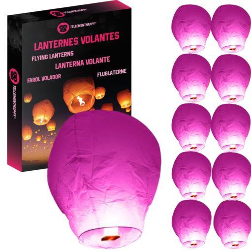 Lanterne Volante Rose Biodégradable TellementHappy